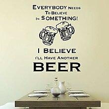 Moderne Bier Wandaufkleber Vinyl Restaurant Bar