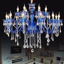 Moderne blaue Kristallleuchter für Wohnzimmer