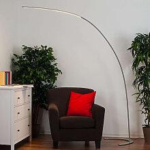 Moderne Bogenlampe aus Aluminium inkl. LED und