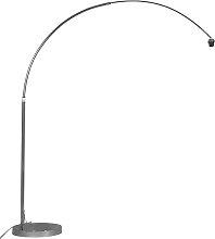 Moderne Bogenlampe chrom verstellbar ohne Schirm
