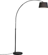 Moderne Bogenlampe schwarz mit schwarzem