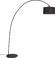 Moderne Bogenlampe schwarz - Vinossa