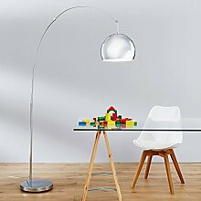Moderne Bogenstehleuchte, Bogenlampe im Lounge