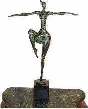 Moderne Bronzefigur auf Marmorsockel - Abstrakter