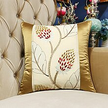 moderne chinesische gestickte Kissen/Feather Wolle Kissen/Spinning Umarmung Kissenbezug Sofa-Bett-A 50x50cm(20x20inch)VersionB
