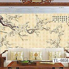 Moderne chinesische Tapete,Blume und Vogel,Ming