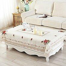 moderne chinesische Tischdecke/Kreuzstich Sticken Tischdecke Garten/Tischdecke decke/Tischdecken/Tischdecke decke/ Leinen rechteckige kleine Tischdecke/ decken Handtücher-B 102x152cm(40x60inch)