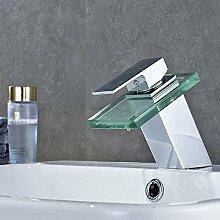 Moderne Chrom Wasserfall Waschbecken Armatur mit