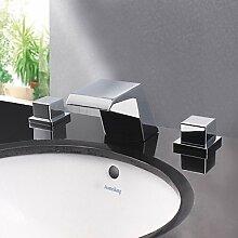 Moderne Chrome Finish Designer Auslauf Wasserfall Waschbecken