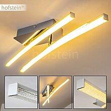 Moderne Decken-Leuchte – Designer-Lampe für die Decke im minimalistischen Design mit drehbaren Leuchtstäben – Metallleuchte für das Wohnzimmer mit Glanzeffekten