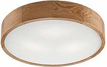 Moderne Deckenlampe Wohnzimmer Flur Holz Glas rund