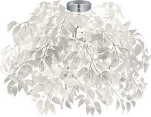 Moderne Deckenleuchte Chrom mit weißen 70 cm -