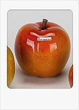 Moderne Deko Skulptur Apfel aus Keramik