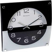 moderne Design Wanduhr aus Glas L. 30cm schwarz weiß eckig Formano (39,00 EUR / Stück)