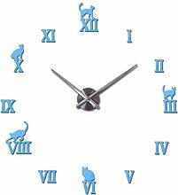 Moderne DIY große Wanduhr große Uhr Aufkleber 3D