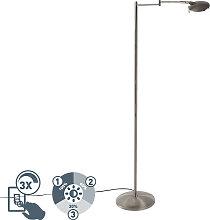 Moderne drehbare Leseleuchte aus Stahl inkl. LED