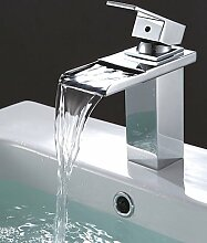 Moderne Edelsta?l Wasserfa?l Waschbecken Wasserhahn