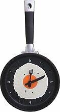 Moderne Eibratpfanne Uhr Besteck Küche Wanduhr