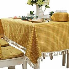 Moderne einfache Baumwolle Kariert Tischdecke
