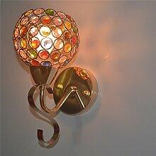 Moderne, einfache Crystal Wand lampe Wohnzimmer Schlafzimmer Bett gang Lampe Beleuchtung, 120 mm Durchmesser