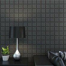 Moderne einfache Gitter Vliestapete Wohnzimmer Schlafzimmer Studie Sofa TV Hintergrundbild , 6