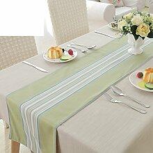 Moderne einfache grobe jacquard-baumwoll-tischfahne Tee tischdecke Lange tv-schrank tischdecke Decken handtücher-A 33x180cm(13x71inch)