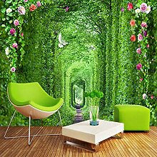 Moderne Einfache Grüne Wald Langen Korridor Foto
