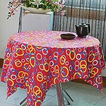 Moderne einfache Haushalt Polyester Baumwolle Leinwand Tischdecke Couchtisch Tuch TV Schrank Schuh Abdeckung Tuch Dekoration Mahlzeit Tuch , #3 , 145*145cm
