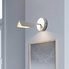 Moderne einfache Individualität Bett energiesparende Wandleuchte Europäische kreative Mode Wohnzimmer Korridor Wandleuchten, weiß
