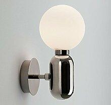 Moderne einfache Nachttischlampe Glaskugel Wand