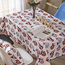 Moderne Einfache tischdecke Familien-Tisch Tuch Cartoon tischtuch tischtuch-Tuch Waschbar-A 140x140cm(55x55inch)