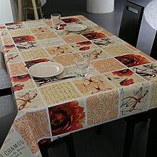 Moderne einfache tischdecke/wasserdicht und anti-bügeln garten tisch tuch/einweg-tischdecken-E 137x100cm(54x39inch)