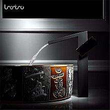 Moderne einfacheKupfer heiß und kalt Wasserhähne