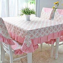 Moderne Einfachheit / Tischdecke / Stoff Tischdecke / Spitze Tischdecke (150 * 200CM) ( farbe : Pink )