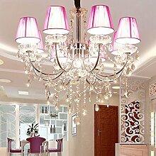 Moderne Eisen Kristall Kronleuchter Lichter Lampe