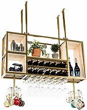 Moderne Esszimmer Deckenweinregale  Flasche und