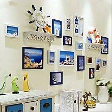 Moderne europäische Fotowand Wohnzimmer Ideen