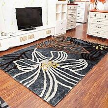 Moderne europäische Wohnzimmer-Sofa Amerikanische Schlafzimmer Couchtisch Mat Teppich (Farbe, Größe Optional) ( Farbe : B )
