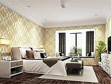 Moderne Extradicke Non-Woven Blumen Muster 3D Dreidimensionale Schlafzimmer Wohnzimmer Tapete TV Hintergrund 10mx53cm (beige)