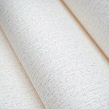 Moderne extrathick Vlies Europäische minimalistische Farbe Luxus Tapete, Rolle für Wohnzimmer Schlafzimmer TV Hintergrund Wand 0,53m (52,8cm) * 10Mio. (32,8') M = 5.3sqm (M³), Only the wallpaper, Ivory white 99004
