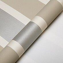 Moderne extrathick Vlies Europäische minimalistische Streifen Luxus Tapete, Rolle für Wohnzimmer Schlafzimmer TV Hintergrund Wand 0,53m (52,8cm) * 10Mio. (32,8') M = 5.3sqm (M³) 90371 beige silver