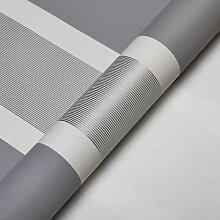 Moderne extrathick Vlies Europäische minimalistische Streifen Luxus Tapete, Rolle für Wohnzimmer Schlafzimmer TV Hintergrund Wand 0,53m (52,8cm) * 10Mio. (32,8') M = 5.3sqm (M³) 90373 grey silver