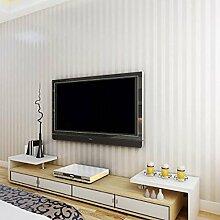 Moderne feste, weiße vertikale streifen tapete, Schlafzimmer wallpaper Einfache büro-tapete-Weiß 53x1000cm(21x394inch)