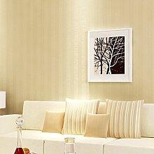 Moderne feste, weiße vertikale streifen tapete, Schlafzimmer wallpaper Einfache büro-tapete-Gelb 53x1000cm(21x394inch)