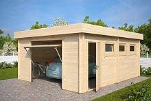 Moderne Garage D mit Schwingtor / 44mm / 4,5 x 6