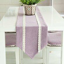 Moderne Garten Einfarbigen Stoff Couchtisch Tisch Tragen,Zu Bett Bett Flagge Fahne Getragen-B 35x150cm(14x59inch)