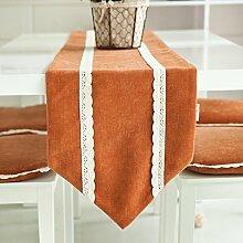 Moderne Garten einfarbigen Stoff Tischdecke/Tisch-Dekoration/Bett-banner/Bett Ende Flagge-A 35x180cm(14x71inch)