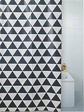 Moderne Geo Luxus Badezimmer Dusche Vorhang schwarz weiß Haken 180x 180x cm