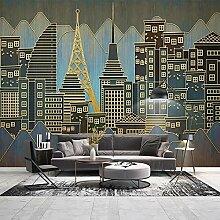 Moderne goldene Linie Relief Stadt Gebäude Foto