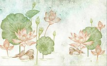 Moderne handgemalte Aquarell Lotus TV Sofa